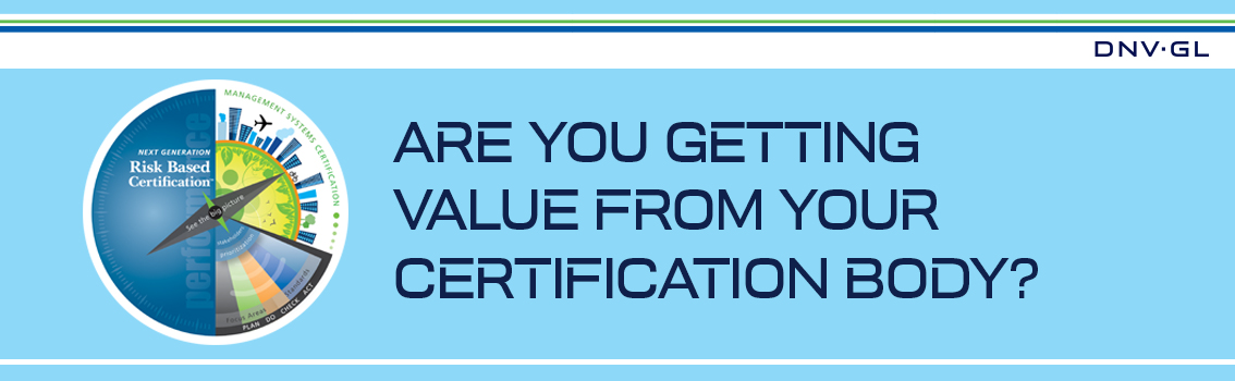 Value from your certification body