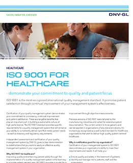 ISO 9001 for healthcare